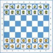Sakkpalota mágneses mesebábok a Sakkpalota mágneses sakktáblán