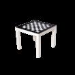 Sakkpalota asztalka - fekete-fehér