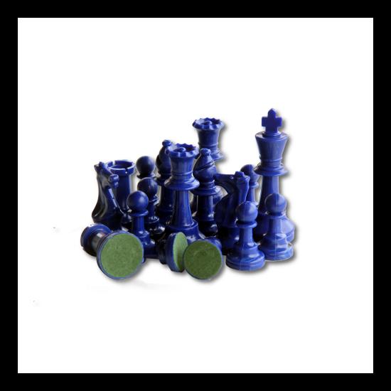 Színes sakkfigura készlet - kék