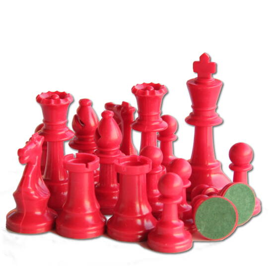 Színes sakkfigura készlet - piros