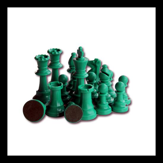 Színes sakkfigura készlet - zöld