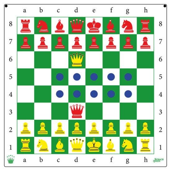 Öntapadós demonstrációs sakktábla és sakk készlet