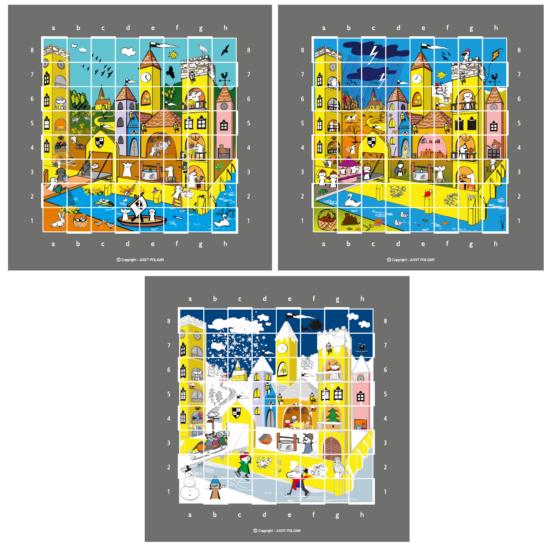 Sakkpalota évszakok - poszter csomag