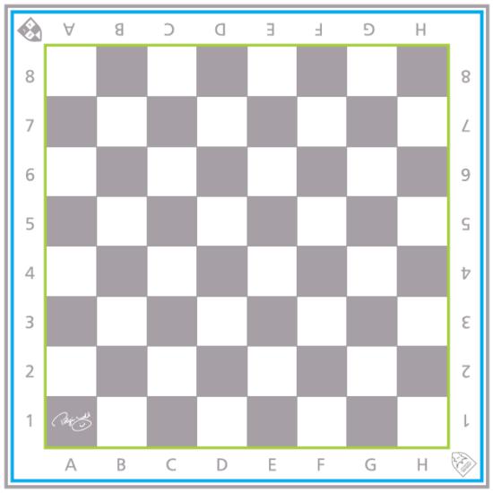 Sakkpalota sakkszőnyeg szürke mezőkkel