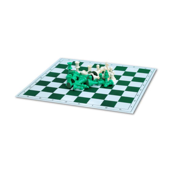 Zöld sakktábla zöld figurákkal